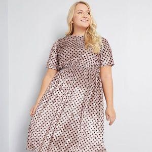 ModCloth Visual Moment Velvet Midi Dress